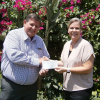 Cheque presentation to Think Pink