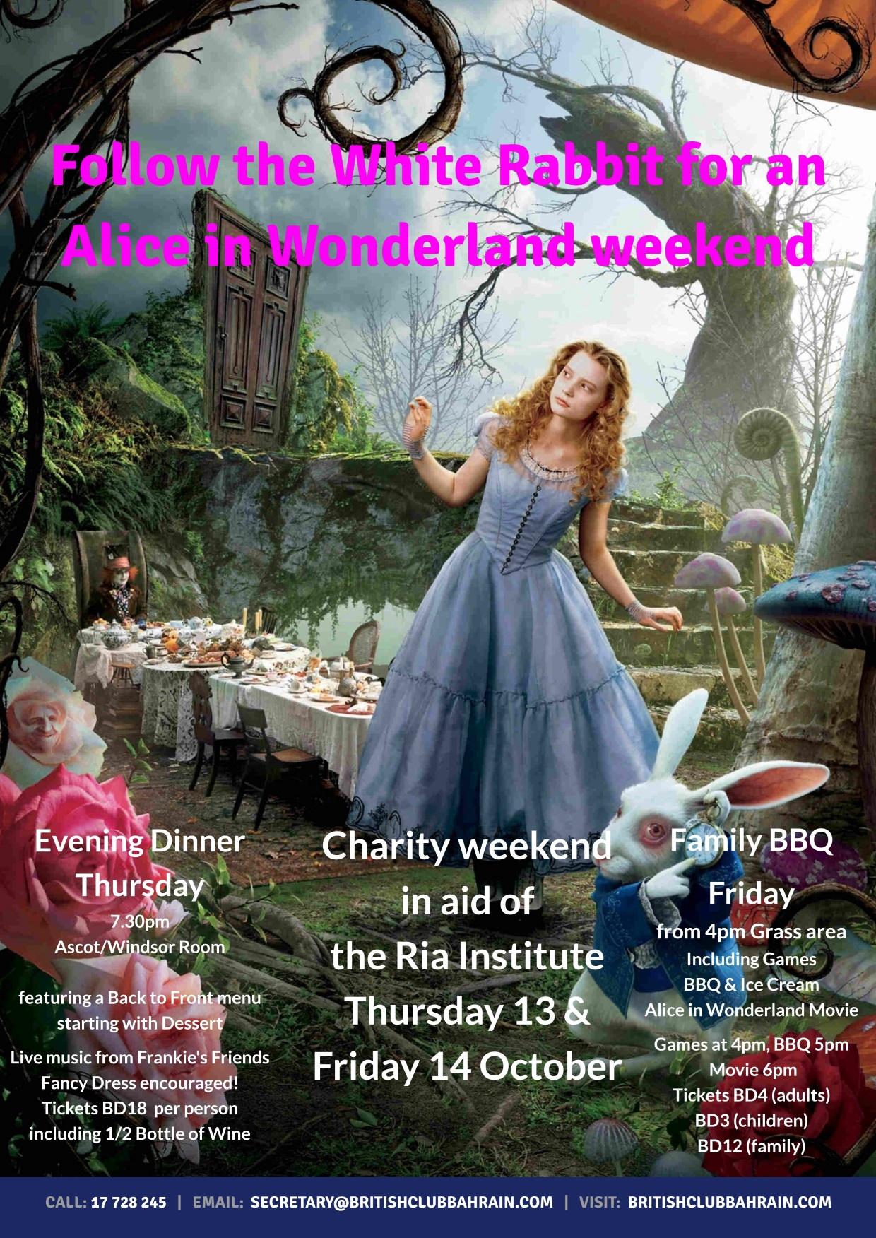 Alice in Wonderland weekend