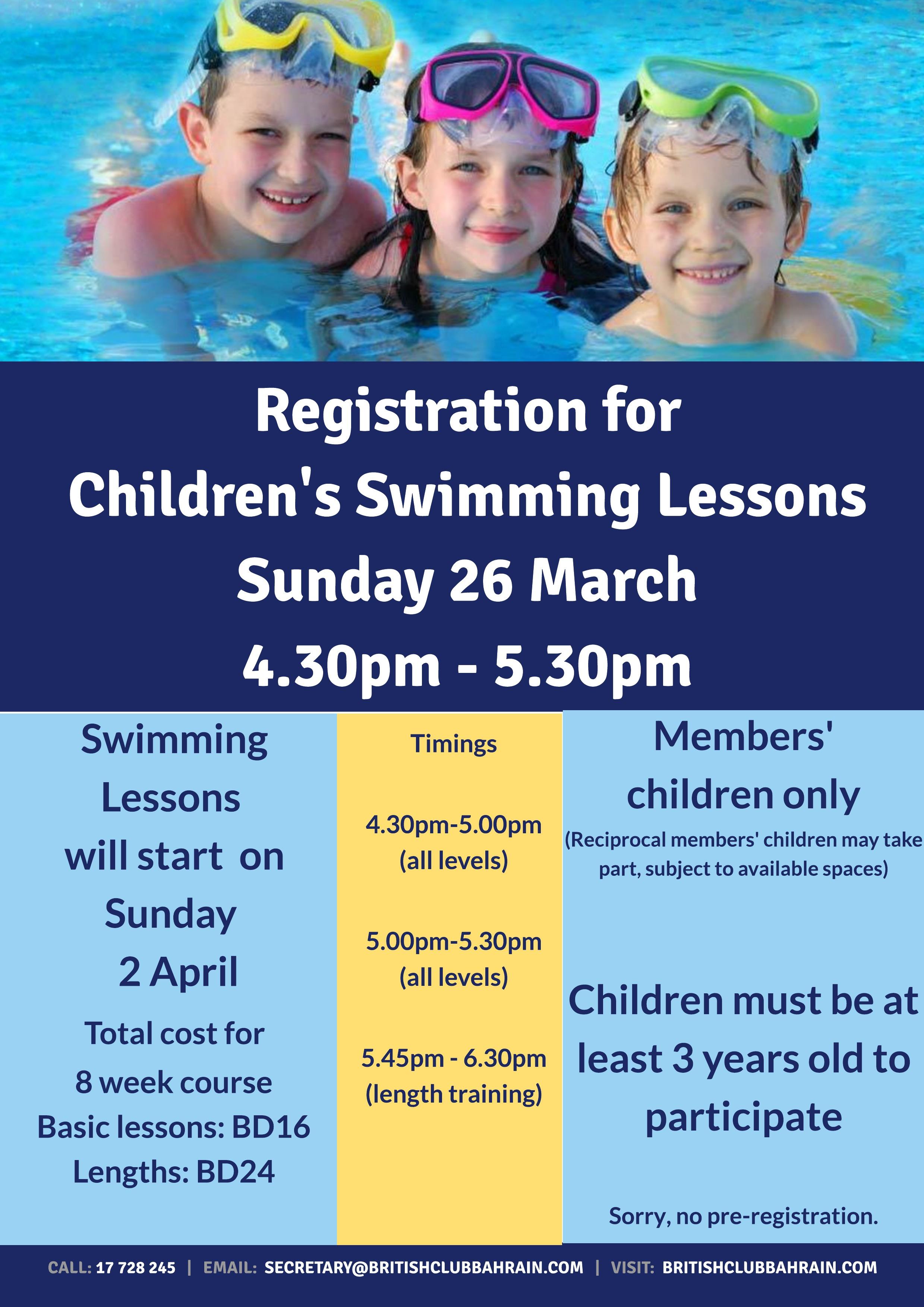Children's Swimming April 2017