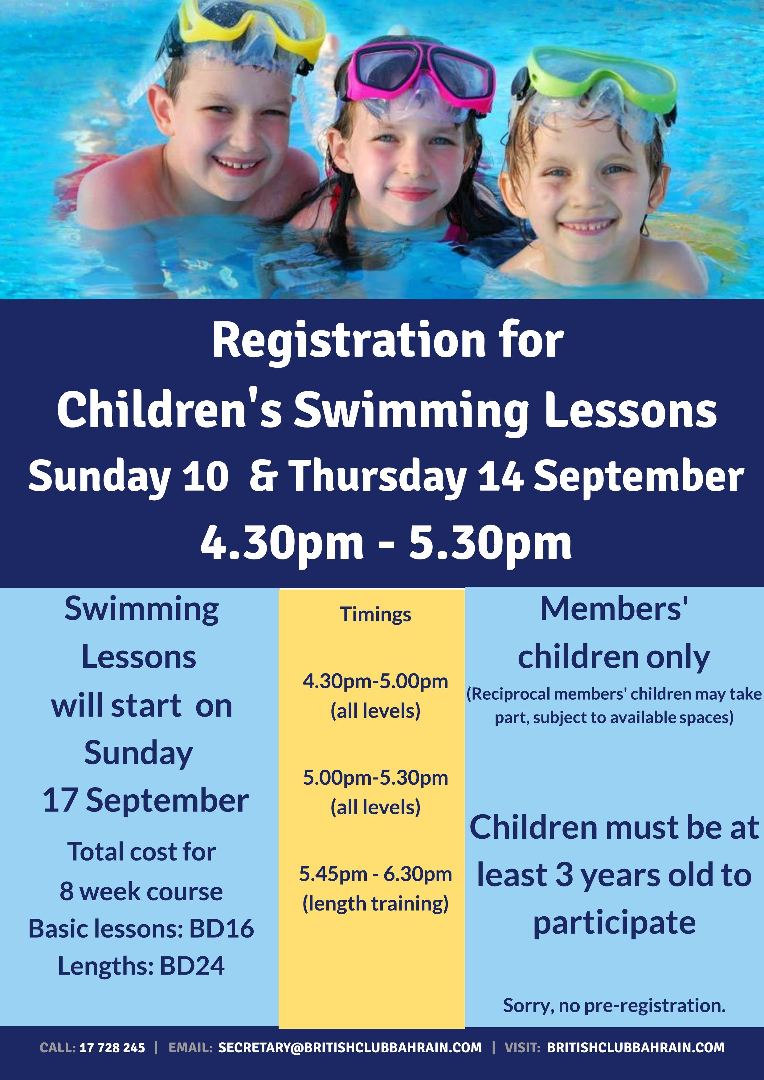 Children's Swimming September 2017