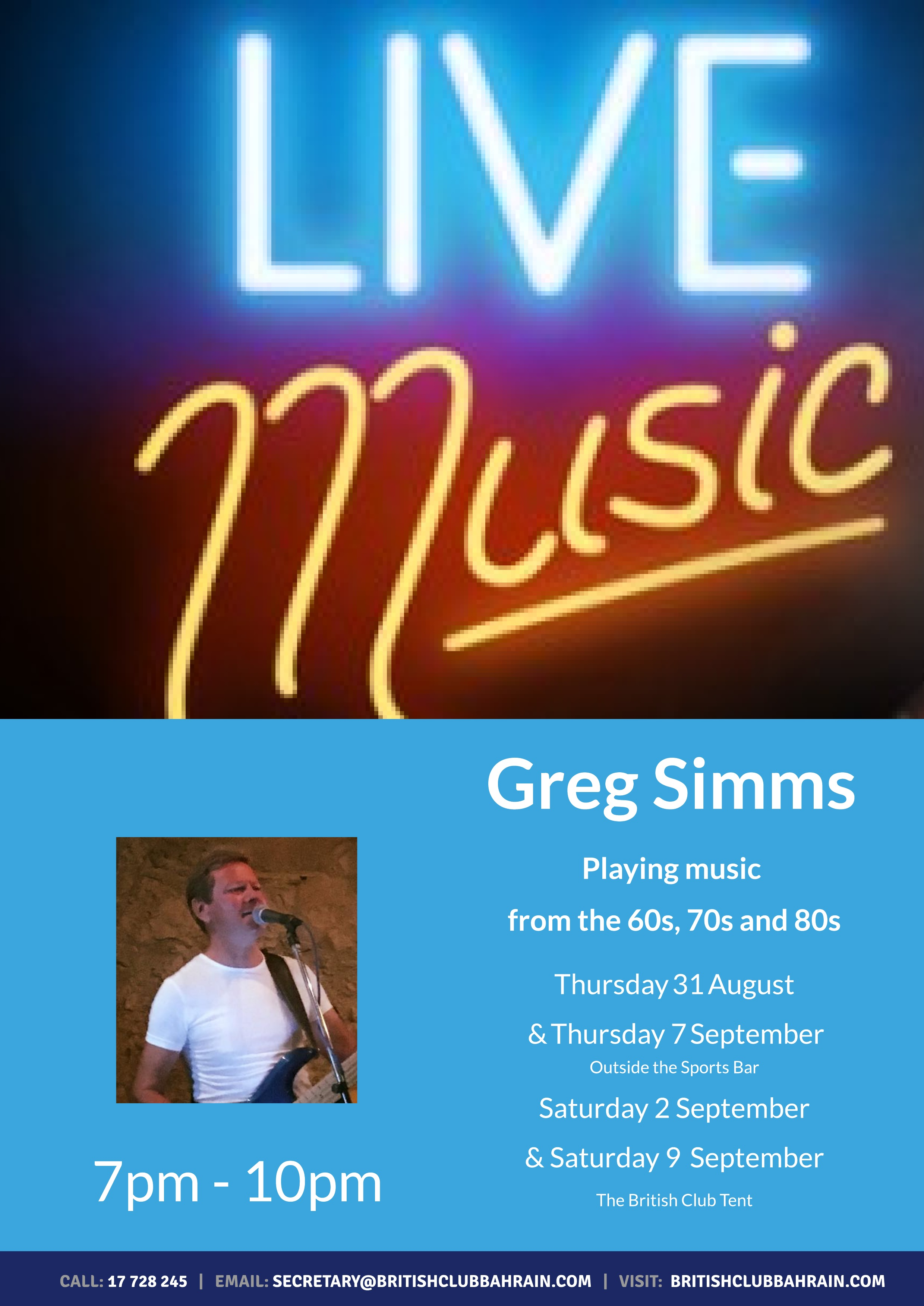 Live music with Greg Simms (1)